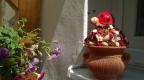Dekorácia Lienka s kvetinami